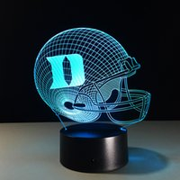 Wholesale Seven Colors Changing D Light D Visual Led Night Light USB Novelty Dallas Cowboys Table Lamps as Home Decor Besides Lampara