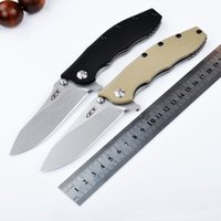 Wholesale New ZT zero steel bearing folding knife CR13MOV blade G10 handle outdoor tactical camping survival EDC pocket folding knives