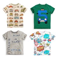 Wholesale 2016new easter t shirt paw shirt boys strips tees summer short car t shirt kids for boys d kids children t shirt sale kids elsa