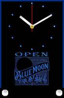 Wholesale tnc0033 Blue Moon Beer OPEN Bar Table Desk D LED Clock