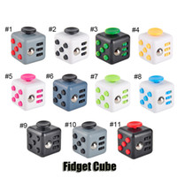 Big Kids Multicolor PVC Novelty Fidget Cube Stress Relief Focus Decompression Anxiety Toys For Adults and Children Christmas Gift High Quality