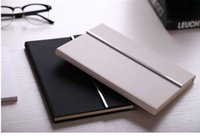 Wholesale 2017 black and white fashion high grade office A5 PU seventy percent off notebook notebook leather hardcover paperback