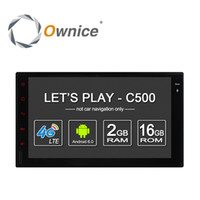 Wholesale Ownice Quad core android car dvd radio player for universal din with G LTE SIM slot