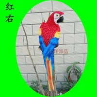 Wholesale Red Hottest sale Home Decoration Bionic Parrot Resin Handicraft Best Ornaments For Part And House Garden Decor