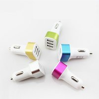 Wholesale 1pcs Car Accessories Car Charger Aluminum Side USB Interface A Car Charger Auto Supplies