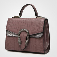 Wholesale 2016 summer fashion snake pattern new handbag small bag shoulder bag Messenger bag small square bag