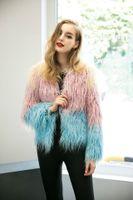 Wholesale New Women Fox Fur Jacket Colorful New Fur coat Women Slim Sleeve Full leather jacket Women Fox Fur Coat Winter Coat FS0953