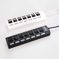 Wholesale Selling Ports LED USB High Speed Adapter USB Hub With Power on off Switch For PC Laptop Computer DHL