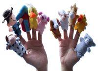 Cheap Wholesale-10 Pcs lot Classic Songs Old Macdonald Had A Farm Finger Puppet Children Educational Puzzle Story-telling Plush Toy #1114