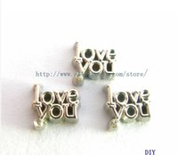 Wholesale new arrived love you floating locket charm Fit floating locket FC816 as a birthday gift for best friend