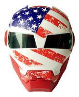 Wholesale 2016 Top hot Black MASEI IRONMAN Iron Man helmet motorcycle helmet half helmet open face helmet casque motocross SIZE M L XL