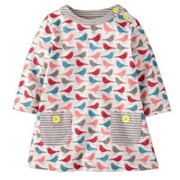 Knee-Length american dress designers - Toddler Girls Dress Spring Summer Dress Children Fashional Print Baby Kids Clothes Girls Designer Princess Dress