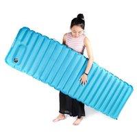 183x51x9 cm air filled pillow - Hewolf Innovative Sleeping Pad Fast Filling Air Bag Super Light Inflatable Mattress With Pillow Waterproof Folding Mat