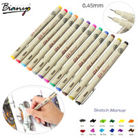 Wholesale Color Needle Drawing Pen mm Fineliner Animation Design Drawing Graphic Fabric Art Marker for Designers Artists