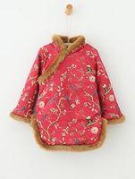Compra Diseño nación-Nuevo diseño de los vestidos de Cheongsam del invierno de la niña de los cabritos Patrones chinos de la impresión del estilo de la nación con los colores del terciopelo dos