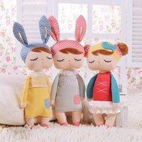 achat en gros de bébé angela poupée en peluche animale-Cute Metoo Angela lapin poupées dessin animé de dessin animé bébés poupée en peluche pour les enfants anniversaire / cadeau de Noël enfants jouets