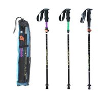 Rubber aluminum tungsten - 2017 Hot Fashion section Aluminum Alloy Adjustable Outdoor Canes Camping Hiking Mountain climbing Trekking Poles Walking Sticks Colors