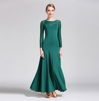 ballroom dancing skirts practice - Ballroom Dance Dress Lady s Simple Practice Long Sleeve Stage Dancing Skirt Women s Cheap Waltz Ballroom Dresses