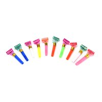 Wholesale Small Multi Color Party Blowouts Whistles Kids Birthday Party Favors Decoration Supplies Noicemaker Color Random