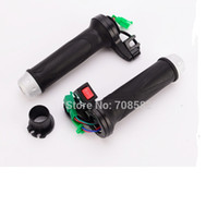 Wholesale handlebar for electric bicycle or scooter motorcycle can adjust temperature mm diamter rubber handlebar a