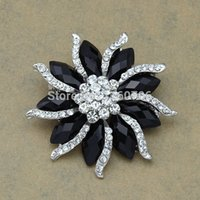 Celtic beautiful vintage clothing - Star Jewelry Beautiful Alloy European Style Resin Crystal Brooches Classic Vintage Women Black Brooch For Decorations Clothes