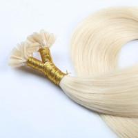 Wholesale 8A U tip human hair Extensions Blonde color Virgin Brazilian Hair top quality