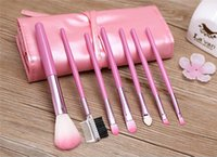 2016 precio más bajo NUEVO maquillaje profesional conjunto de pincel cosméticos 7pc maquillaje maquillaje cosméticos conjunto de pincel kit PU fábrica directa