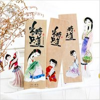 Paper ancient chinese writing - Pack Ancient Lady Figure Chinese traditional hand tattoo Bookmark Paper Cartoon Film Bookmark Writing Card Gift