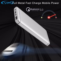 battery fast charging - YFW Quick Charge QC Power Bank mAh Portable External Battery Fast Charging USB Type C Output DC5V A Powerbank
