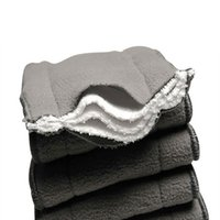 bamboo nature nappies - 5 Layers PC Bamboo Charcoal Liner Inserts For Baby Cloth Diaper Washable Nappy Nature Charcoal Bamboo Reusable Diaper Insert
