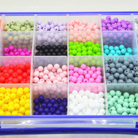 Wholesale 9MM round Loose Silicone Beads for Teething Necklace DIY loose beads FDA EN