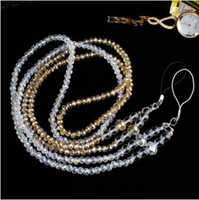 Wholesale Lanyard for Phone Case Keys Crystal Bead Jumbo Rare Neck Lanyards for Keys Slow Rising neck strap Cell Accessories Straps DHL