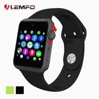 Wholesale Lemfo LF07 bluetooth Smart Watch Sync Notifier support Sim Card sport smartwatch For apple iphone Android Phone pk iwo gt08 gd19