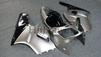 al por mayor zx12 carenados kawasaki-ZX12R 2000 2001 Juego de carenado de plata con juego de tanque para Kawasaki Ninja ZX 12R ZX-12R 2000 2001 ZX12 R 00 01 Carcasa de plástico ABS