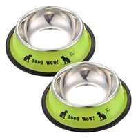 Wholesale New Arrival Stainless Steel Anti skid Pet Dog Cat Food Water Bowl Pet Feeding Bowls Tool Dia cm