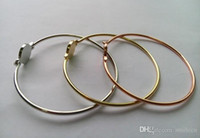 Wholesale Tone Bangles New York famous brand round charm Bracelets silver gold rose gold colours fashion jewelry for women girls