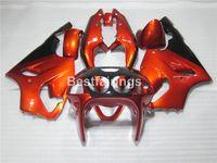 achat en gros de carénages zx7r à vendre-Kit de carénage en plastique de vente chaude pour Kawasaki Ninja ZX7R 96 97 98 99 00-03 kit carénage noir rouge de vin ZX7R 1996-2003 TY10