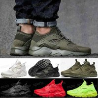Wholesale air Huarache IV Running Shoes For Men Women Black White High Quality Sneakers Triple Huaraches Athletic Sport Shoes Eur36