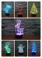 Wholesale Creative Gift for Children christmas toys USB RGB Lamp Touch Dimmable D Night Light as Bedroom Seven Color Changing Lamp