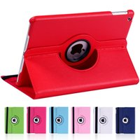 air film resistance - for Apple iPad Air Tablet Case Degree Rotating Solid PU Leather Stand Flip Folio for ipad Protective Cover film Pen
