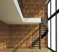 bedroom dimensions - 3d Red grey distressed textured old brick wallpaper for living room dimension brick effect wallpaper for vintage villa