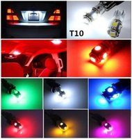 auto marker lights - Car Auto LED T10 W5W SMD LED White Car Side Wedge Tail Car License Plate Light Lamp Bulb