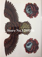 Wholesale NEW Fashion Owl Skull and Eye X CM Sized Sexy Cool Beauty Tattoo Waterproof Hot Temporary Tattoo Stickers