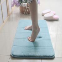 Wholesale Soft Carpets Memory Foam Slow rebound Waste absorbing Slip resistant Mats Coral Fleece Doormat for Living Room Bathroom