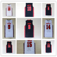 Wholesale 1992 Dream Team Laettner Barkley Pippen Drexler Malone Johnson EE UU Baloncesto Jersey