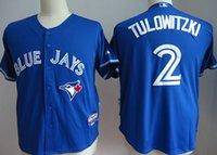 Wholesale DHL Toronto Blue Jays Baseball Jerseys Troy Tulowitzki Josh Donaldson Stitched Baseball Wear Athletic Mix Orders