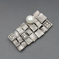 asian paint colors - 3 Colors Pearl Oil Painting Style Bohemia Brooch Gray Red White For Ladies Women Collar Scarf