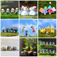 Little Fairy Garden Décorations Flower Elephant Potted Plants Cake Accessoires décoratifs Rabbit Animal Bird Totoro Micro Landscape 14rg