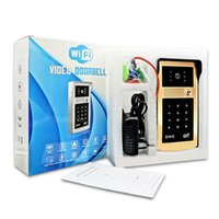 access control wireless - villa wifi video door phone access control doorbell with HLD camera and gold and silver appearance competitive price for the wholesaler