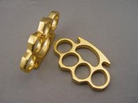 Wholesale GILDED THICK THICK mm STEEL BRASS KNUCKLE DUSTER color Gold plating silver